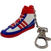 Güreş Ayakkabısı Pvc Anahtarlık Kırmızı Beyaz