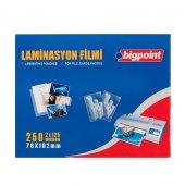 Bigpoint Laminasyon Filmi 78x102mm 125 Mikron 100lü Kutu