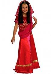 Hintli Kostümü Hintli Kıyafeti Kız Çocuk