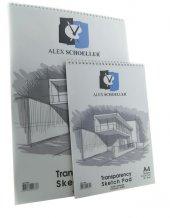 Alex Schoeller A 5 Spiralli Eskiz Blok 50 55 Gr...