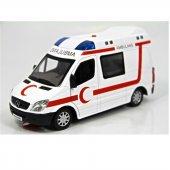 Ambulans Çek Bırak Metal 1 32 Sesli Işıklı