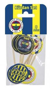 Doğum Günü Fenerbahçe Pasta Kürdanı 8 Li