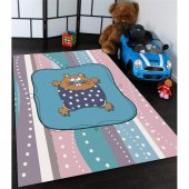 Sevimli Sincap Desenli Çocuk Odası Halıları