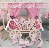 Prenses Arabası Drajeli Kız Bebek Çikolata
