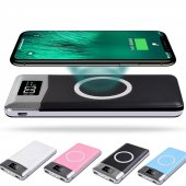 Qi Kablosuz Wireless Powerbank Dijital Göstergeli 10000 Mah Led