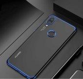 Huawei P20 Lite Kılıf Dört Köşeli Lazer Silikon Mavi