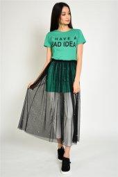 Tül Detaylı Kadın T Shirt