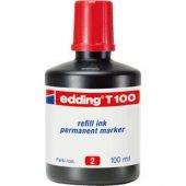 Edding T100 Permanent Marker Mürekkebi 100 Ml. Kırmızı