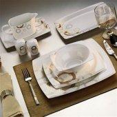 Kütahya Porselen Kare 35101 Aliza Bone 83 Parça Yemek Takımı