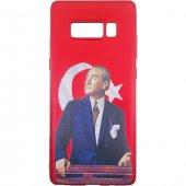 Samsung Galaxy Note 8 3d Atatürk Desenli Silikon Kılıf