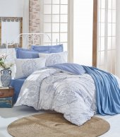 Cotton Box Çift Kişilik Nevresim Takımı Pike Hediyeli Serena Mavi