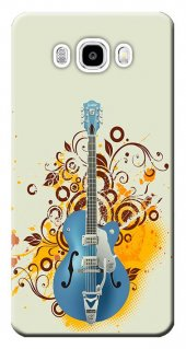 Samsung Galaxy J5 Kılıf Sm J500 Silikon Baskılı Mavi Gitar Stk 12
