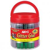 Amos Glitter Glue Simli Yapıştırıcı Plastik Sınıf Kavanozu 10,5 M