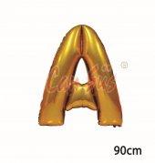 40inç A Harfi Folyo Balon Gold 90cm