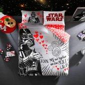 Taç Star Wars Valentins Day Çift Kişilik Lisanslı Nevresim Takım
