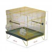 Tek Katlı Kuş Kafesi Sarı Galvanizli 40 X 33 X 40cm