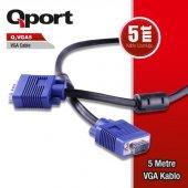Qport Q Vga5 15 Pin Fitreli 5 Metre Vga Kablo