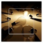 Dekoratif Uv Baskılı Elektrik Düğmesi Priz Kapı Zili Ampül