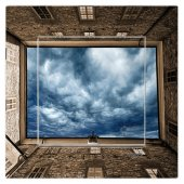 Dekoratif Baskılı Elektrik Düğmesi Priz Kapı Zili Gökyüzü