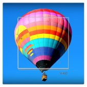 Dekoratif Baskılı Elektrik Düğmesi Priz Kapı Zili Uçan Balon