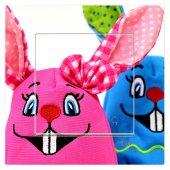 Dekoratif Baskılı Elektrik Düğmesi Priz Kapı Bez Tavşanlar