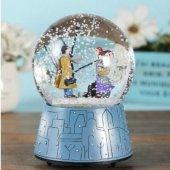 Kış Masalı Sevgili Pilli Müzikli Işıklı Orta Boy Kar Küresi