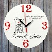 Kişiselleştirilebilir Baskılı Duvar Saati İsim Yazılabilir Saat