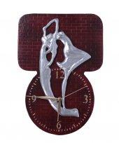 Dans Eden Kadın Figürlü Kabartma El Yapımı Dekoratif Duvar Saati