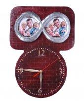 Kabartma Sonsuzluk İşareti Fotoğraf Çerçeveli Duvar Saati
