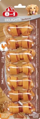 8in1 Delights Barbecue Soslu Xs Köpek Ödül Kemiği 7li Skt 01 201