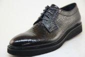 7963 Siyah Kroko Baskılı Hakiki Deri Eva Tabanlı Ayakkabı