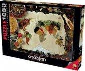 Anatolian Baharatlı Dünya Haritası 1000 Parça Puzzle