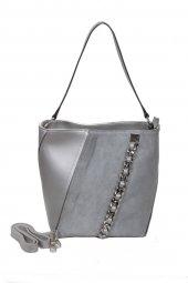 Desan 4330 Omuz Askılı Gümüş Renk Bayan Çanta