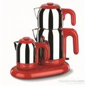 Korkmaz A353 01 Mia Çay Kahve Makinesi Kırmızı