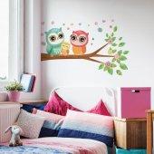 Dekorloft Baykuş Ailesi Çocuk Odası Duvar Sticker Cs 253