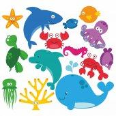 Dekorloft Deniz Hayvanları Çocuk Odası Sticker Cs 262