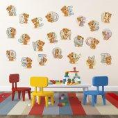 Dekorloft Ayıcık Alfabe Çocuk Odası Sticker Cs 507