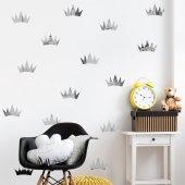 Dekorloft Gümüş Rengi Aynalı Taç Çocuk Odası Sticker Cs 593
