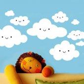 Dekor Loft Mutlu Bulutlar Xl Çocuk Odası Duvar Sticker Cs 618