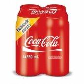 Coca Cola Teneke 250 Ml X 4 Adet