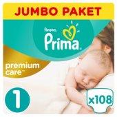 Prima Bebek Bezi Premium Care Jumbo Paket Yenidoğan 1 Beden 108 Adet