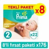 Prima Premium Care Mini Bebek Bezi 2 Beden Fırsat Paketi 176 Adet