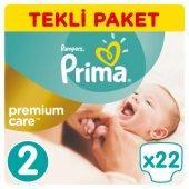 Prima Premium Care Bebek Bezi Tekli Paket 2 Beden 22 Adet