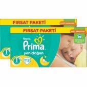 Prima Bebek Bezi Yenidoğan Aktif Bebek Fırsat Paketi 1 Beden 224 Adet