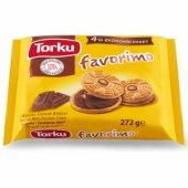 Torku Favorimo Çikolata Kremalı Bisküvi 76 Gr X 4 Adet