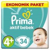 Prima Bebek Bezi Aktif Bebek Ekonomik Paketi 4+ Beden 34 Adet