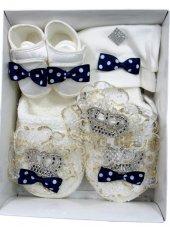 Anne Erkek Taç Modelli Bebek Set