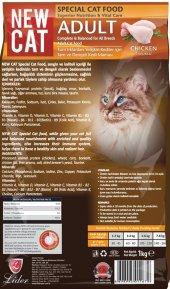Newcat, Kedi Maması, 5 Adet X1 Kg Açık Taze Ucuz Lezzetli, Tavuklu Mama, Pet