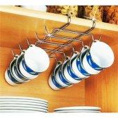 Mutfak Rafı Altı Dolap İçi Fincan Askılığı Kupa Askı Aparatı