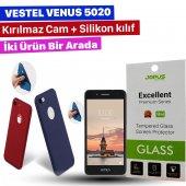 Jopus Vestel Venus 5020 Kılıf+kırılmaz Cam Ekran Koruyucu